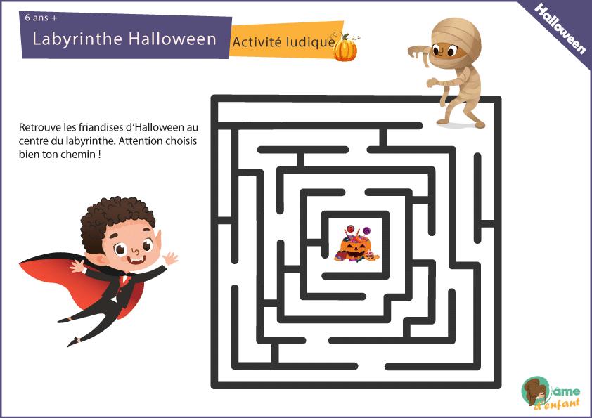 Le Labyrinthe D' Halloween (6 Ans +) pour Jeux Pour Halloween