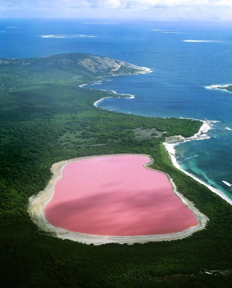 Le Lac Hillier En Australie Possède Une Étonnante serapportantà Couleur De L Australie