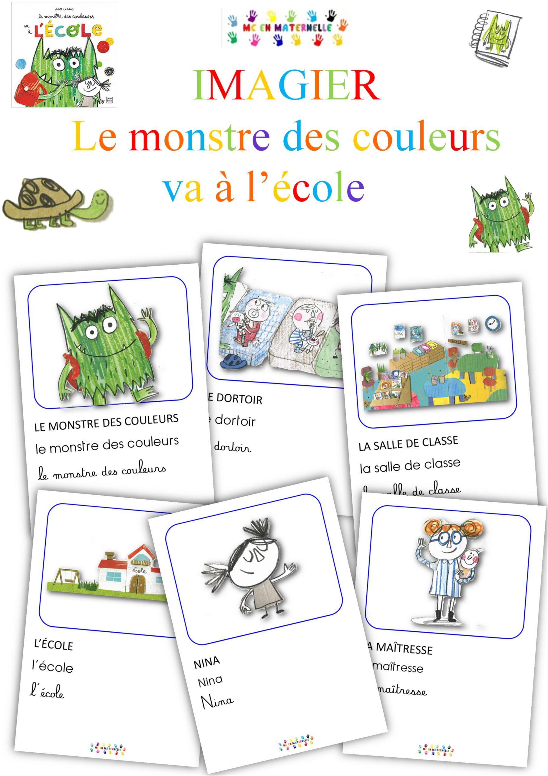 Le Monstre Des Couleurs Va À L'École : Imagier - Mc En intérieur Le Magicien Des Couleurs Maternelle