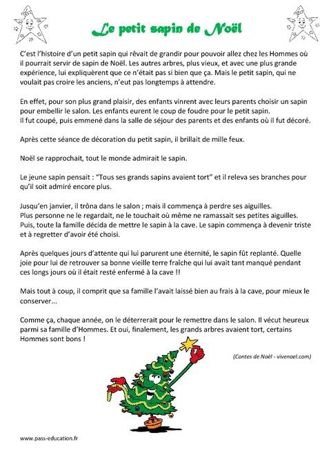 Le Petit Sapin De Noël - Lecture - Conte - Cp - Ce1 destiné Lecture Cp Noel