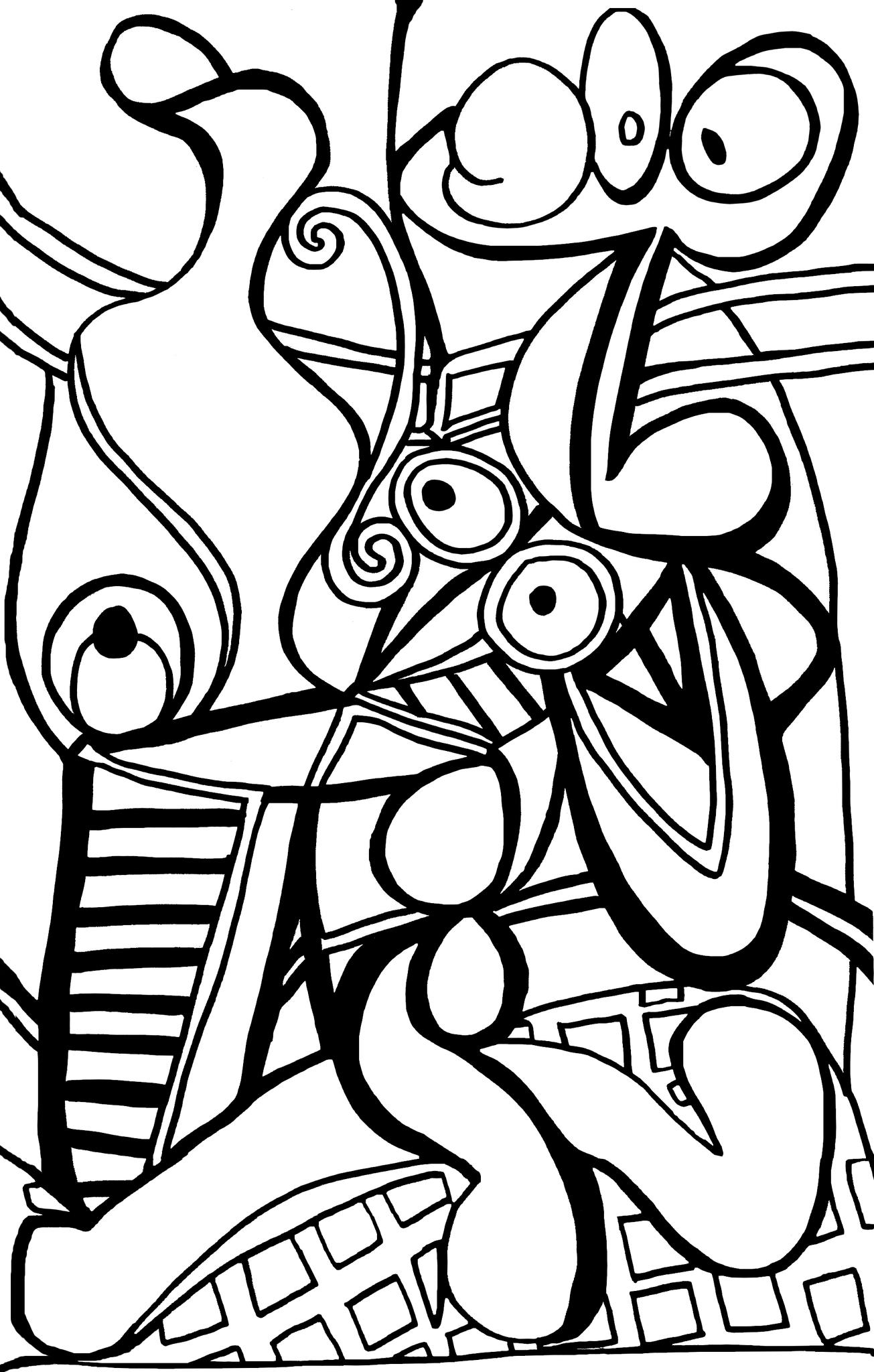 Le Picasso Cassé - Le Tour De Mes Idées destiné Dessin À Peindre À Imprimer