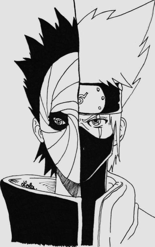 Le Plus Récent Pour Dessin Naruto Shippuden Kakashi encequiconcerne Dessin Facile Naruto