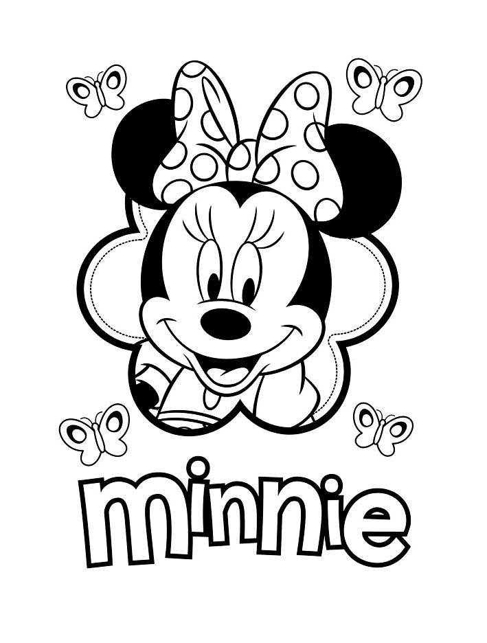 Le Visage De Minnie - Coloriage Minnie - Coloriages Pour destiné Coloriage Visage Enfant