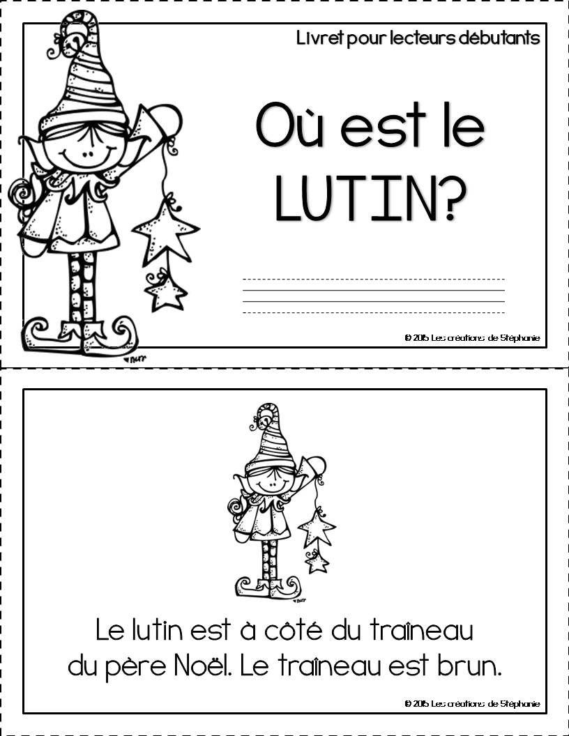 Lecteurs Débutants : Où Est Le Lutin? (Avec Images serapportantà Lecture Cp Noel