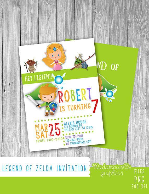 Legend Of Zelda Invitation (Digital) (With Images concernant Invitation Zelda