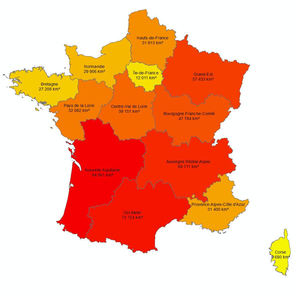 Les 13 Nouvelles Régions Françaises - Paloo Blog Destiné encequiconcerne Les 13 Régions