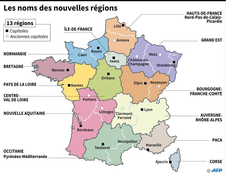 Les Grandes Régions Françaises Ont Toutes Un Nouveau Nom concernant Nouvelle Region France