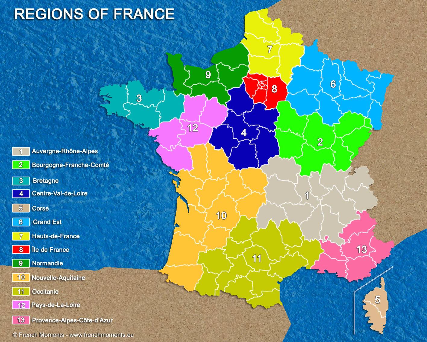 Les Noms Des 13 Nouvelles Régions De France | Un Français avec Les 13 Régions