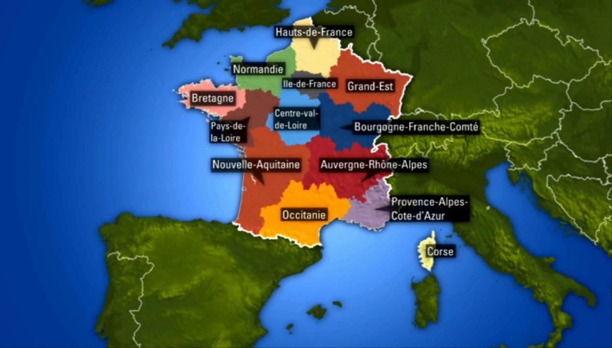Les Noms Des 13 Nouvelles Régions Françaises tout Liste Des Régions Françaises