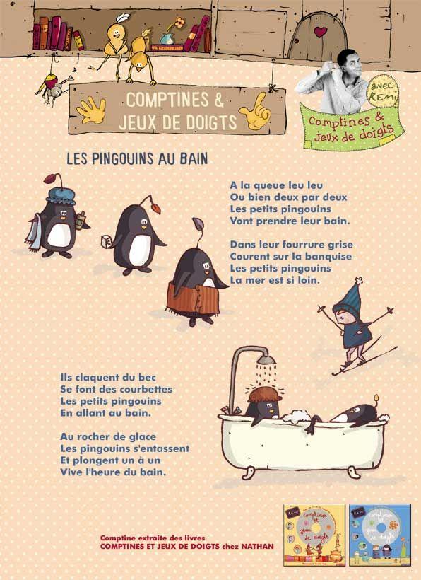 Les Pingouins Au Bain   Comptine Et Jeux De Doigts destiné Musique De Pingouin