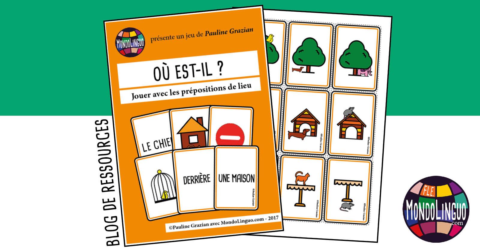 Les Prepositions De Lieu Anglais Exercices A Imprimer intérieur Jeu De Carte En Anglais