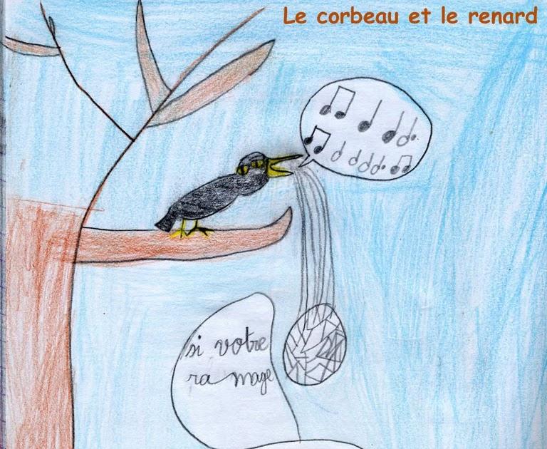 Les Trucs De Myrtille: Le Corbeau Et Le Renard - Dimanche encequiconcerne Dessin Du Corbeau Et Du Renard