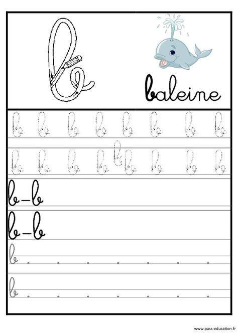 Lettres De L'Alphabet En Cursive - Ecriture - Maternelle intérieur Apprendre À Écrire Les Lettres En Maternelle