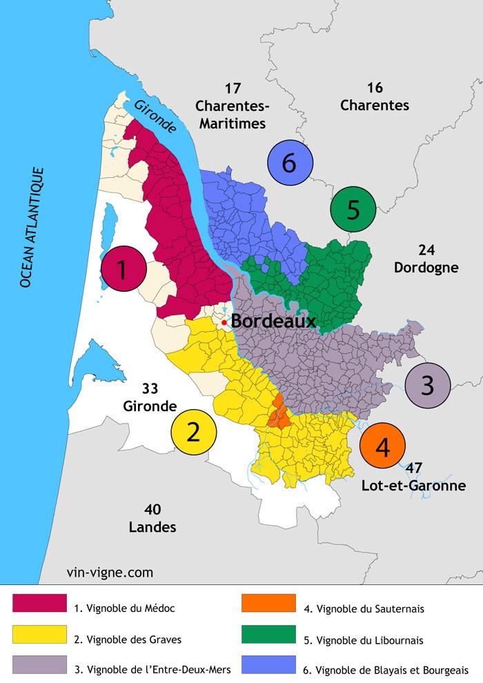 Liste Vin De Bordeaux - Chateau U Montellier dedans Liste Des Régions De France