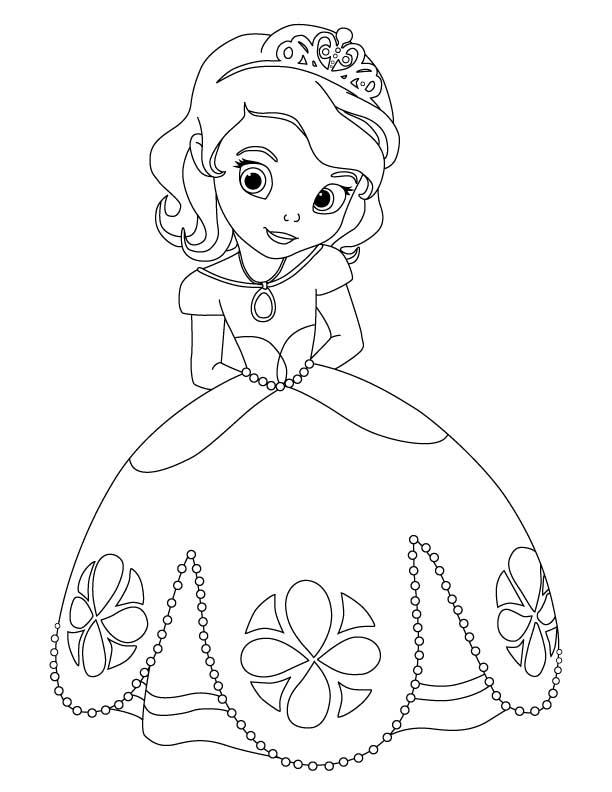 Livre Coloriage À Dessiner Princesse Sofia dedans Princesse À Dessiner