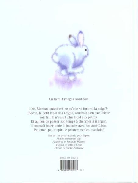 Livre - Flocon Le Petit Lapin Des Neiges - Marcus Pfister concernant Le Petit Flocon