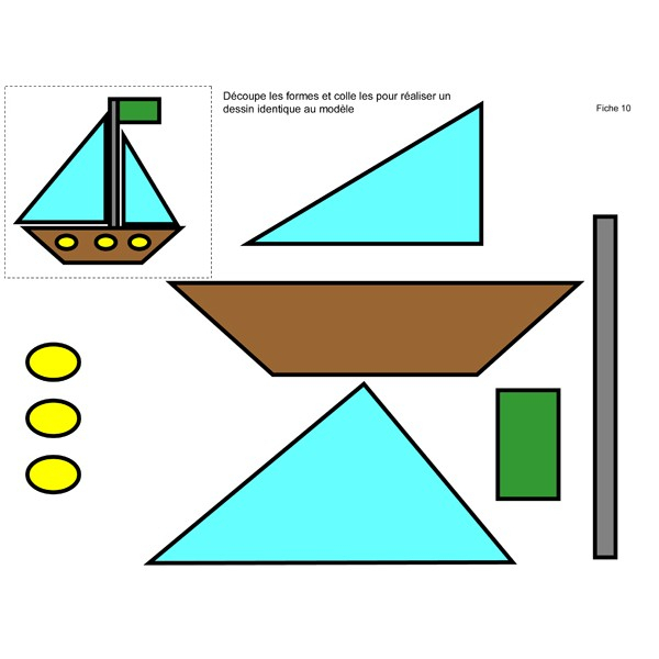 Logique Et Mathématiques Avec Des Formes Géométriques intérieur Les Formes Geometrique