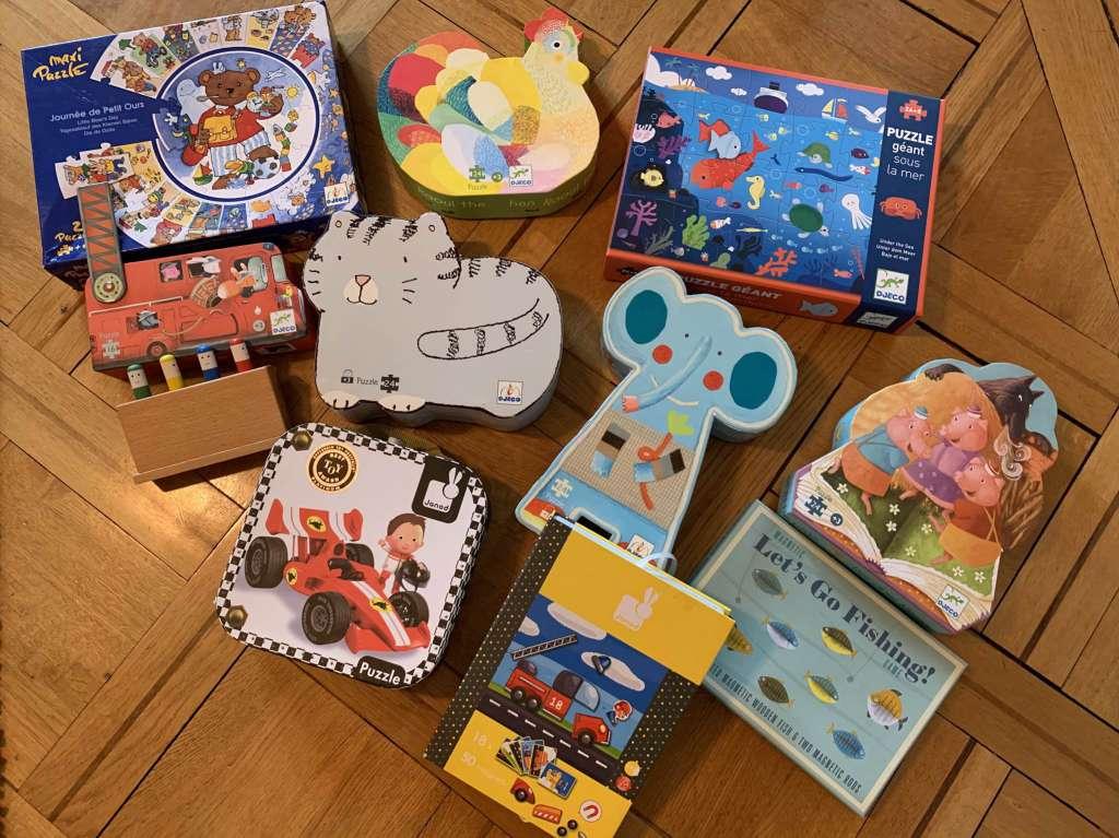 Lot 12 Puzzles Djeco (Enfants 3 Ans Et +) serapportantà Puzzle Gratuit 3 Ans