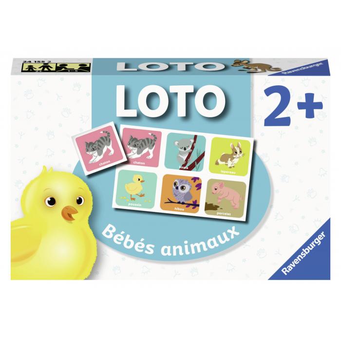 Loto Bébés Animaux - Ravensburger - Jeux Éducatifs - Jeux dedans Jeux De Bébé Animaux