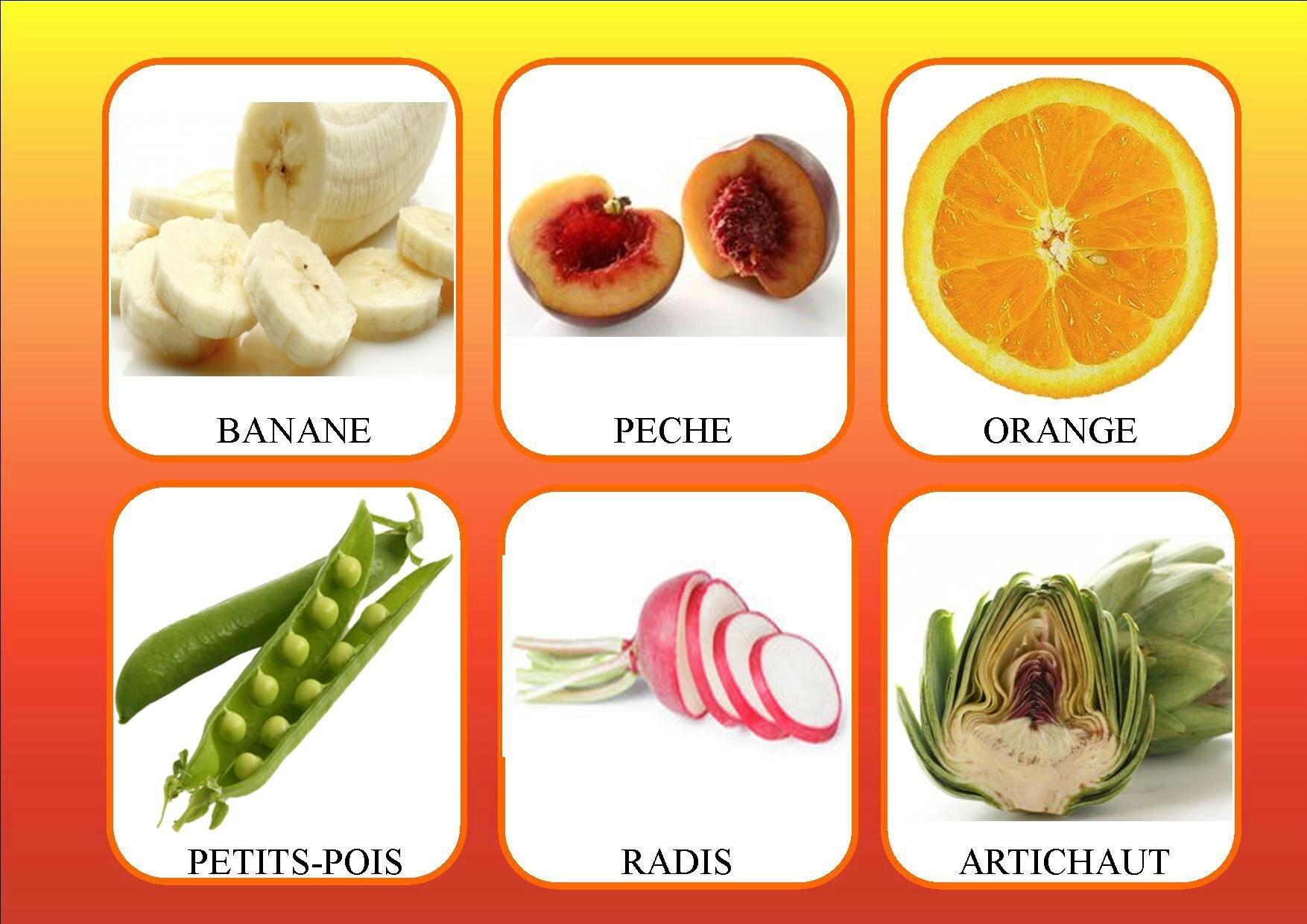 Loto Des Fruits Et Légumes - La Classe De Mamaicress dedans Les Noms Des Arbres Et Leurs Fruits
