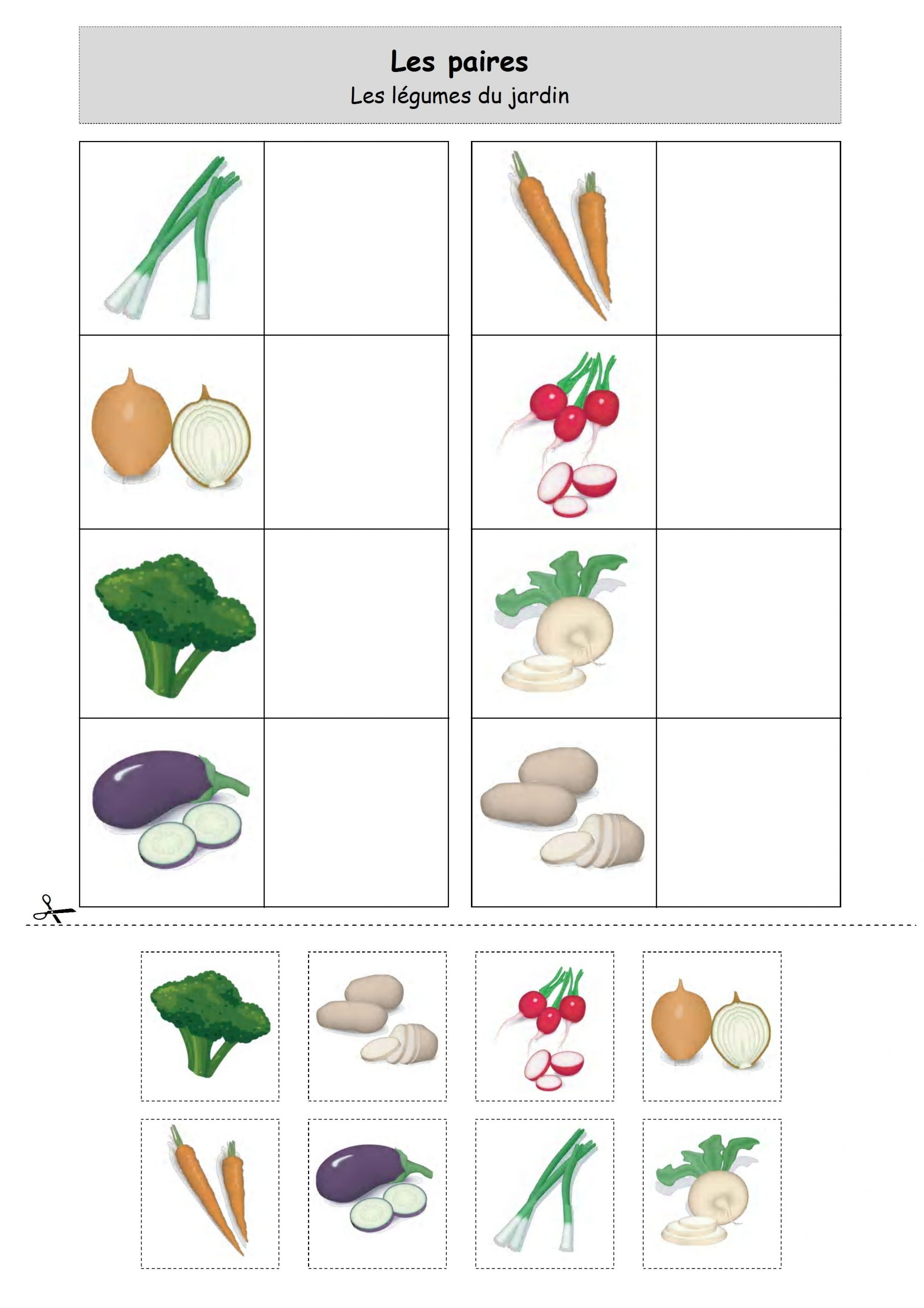 Loto Legumes Du Jardin   Activités Printemps Maternelle tout Jeux Pedagogique Maternelle