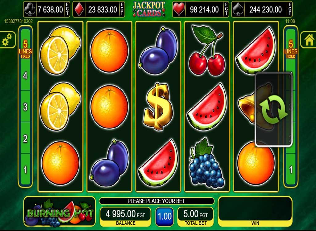 Machine À Sous Burning Hot De Egt - Jeux Gratuits De Casino pour Jeux De Bulles Gratuit