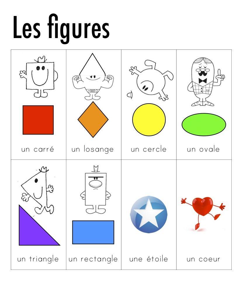 Madame Belle Feuille: Les Objets - 3D | Teaching French dedans Les Formes Geometrique