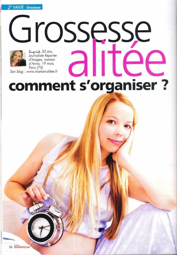 Magazine Parole De Mamans   Maman Alitée pour Maman Paroles