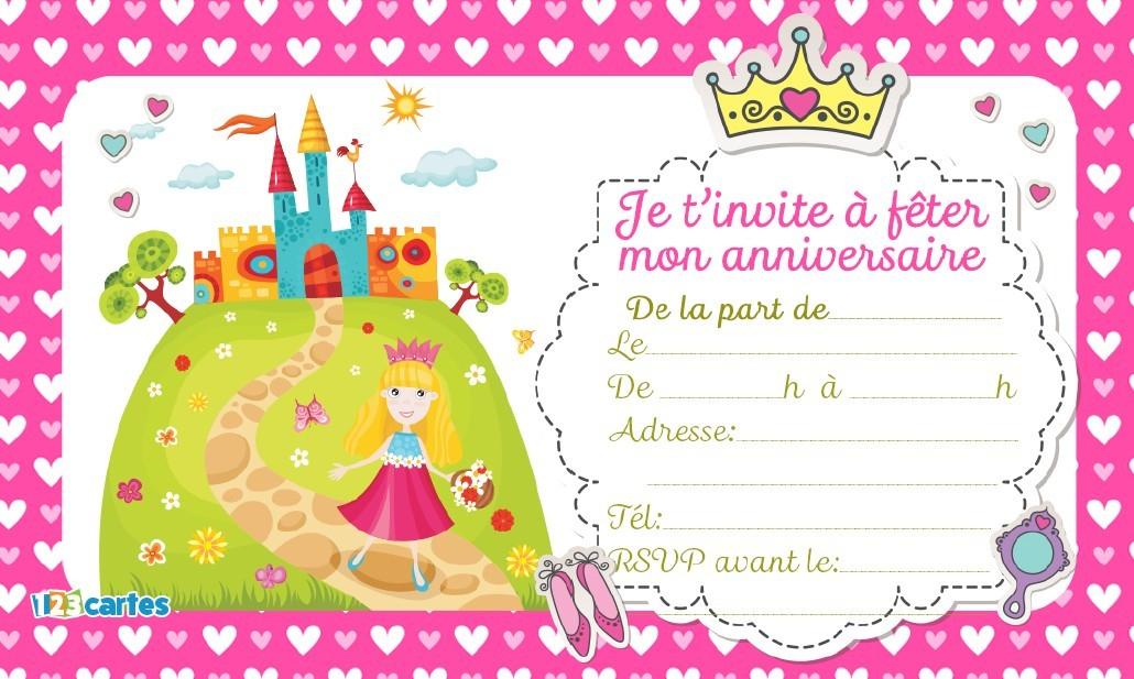 Magnifique Invitation D'Anniversaire | Meilleurs Voeux tout Invitation Anniversaire Fille 5 Ans
