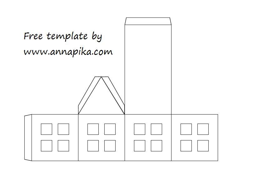Maison En Papier - Template Diy - Anna Pika à Patron De Maison En Papier A Imprimer