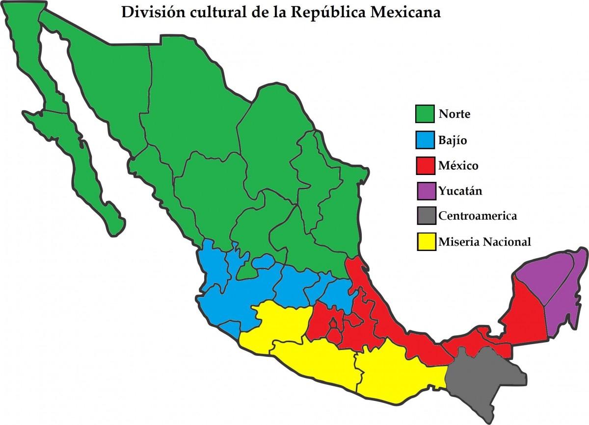 Mapa De México: Político, Regiones, Relieve, Para Colorear encequiconcerne Nombre De Region