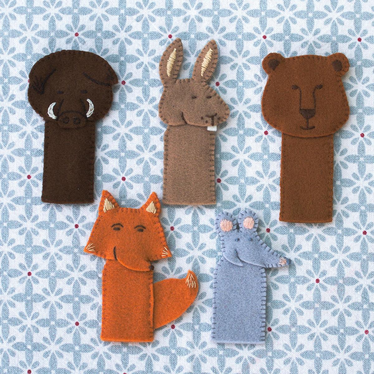 Marionnettes De La Forêt, Marionnettes À Doigt À Faire Soi intérieur Un Sifon Fon Les Petite Marionnette
