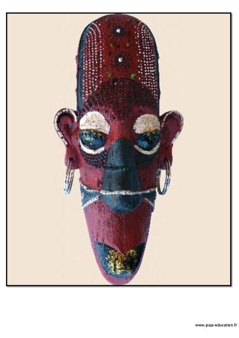 Masque Africain (Avec Images) | Masques Africains, Art à Masques Africains À Fabriquer