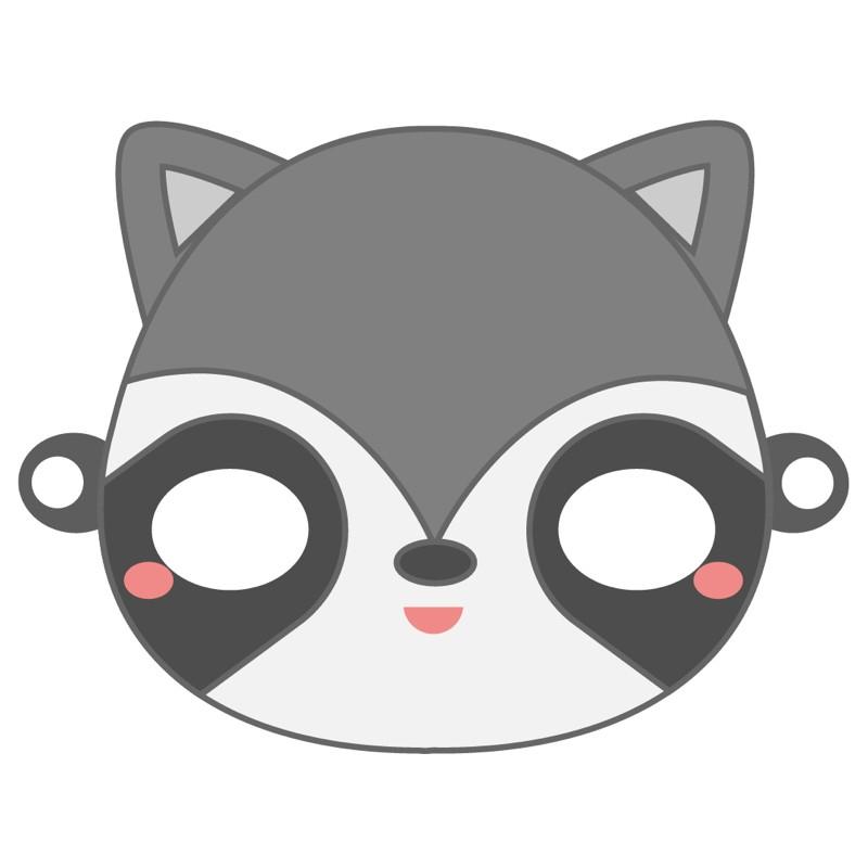 Masque De Carnaval À Imprimer : Le Raton-Laveur Par Tête À intérieur Masque À Imprimer Animaux