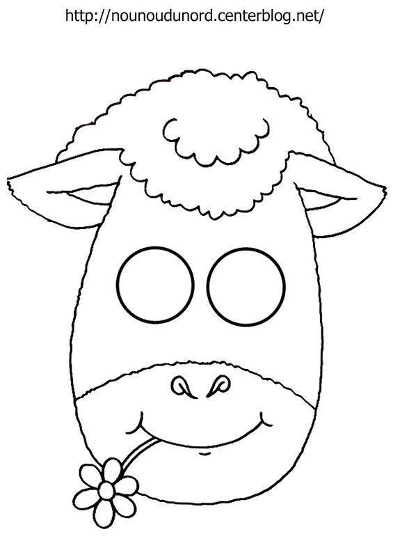 Masque Mouton À Imprimer tout Masques Animaux À Imprimer
