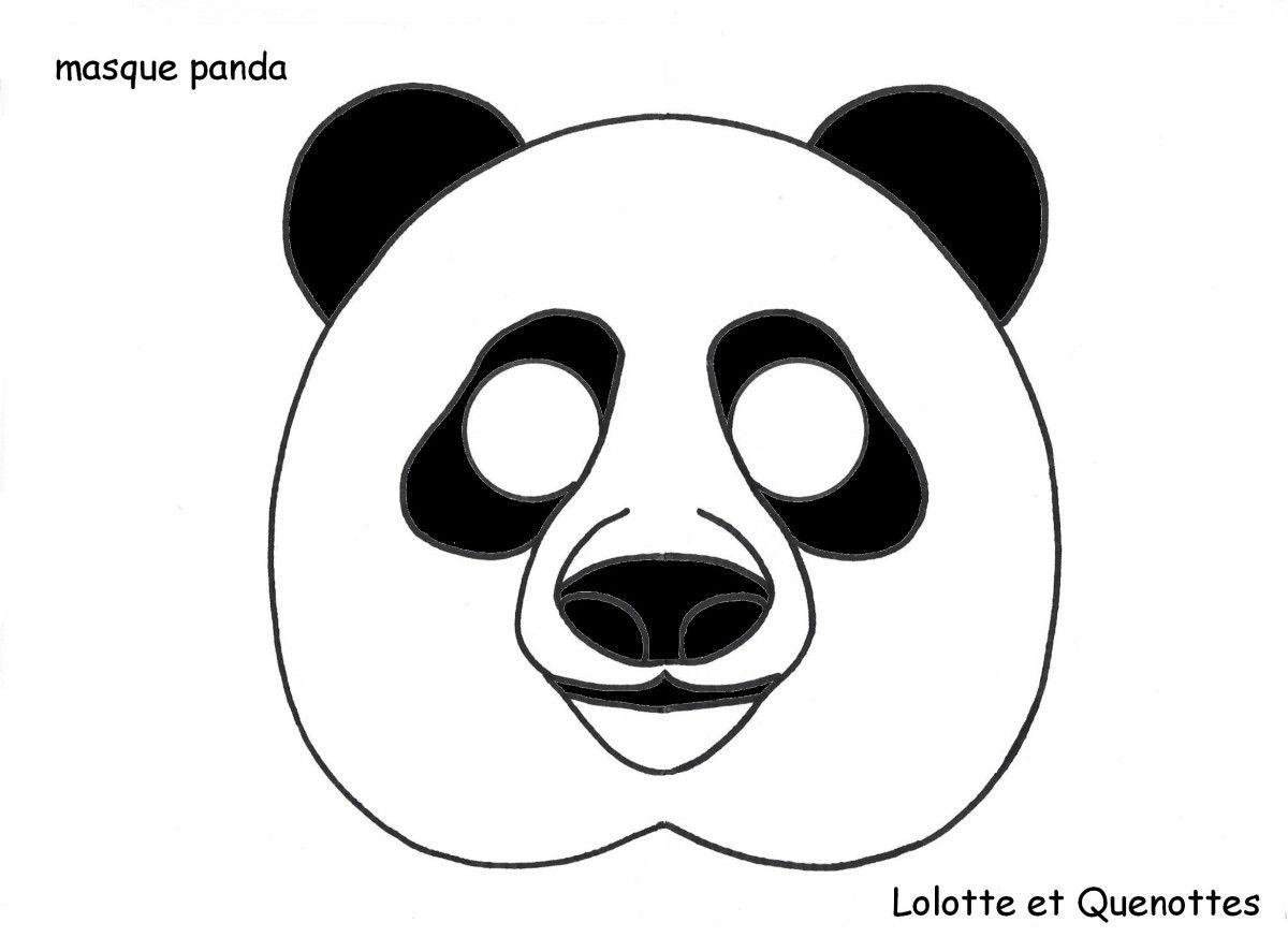 Masque Panda | Masque Animaux, Masque Et Panda destiné Masque À Imprimer Animaux