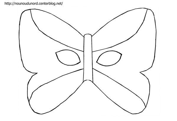 Masque Papillon À Imprimer dedans Masque Carnaval Maternelle À Imprimer