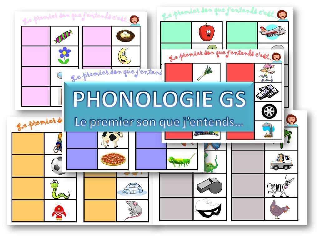 Maternelle-Grande Section-Phonologie- Jeux Sur Les Sons tout Jeux Educatif Grande Section