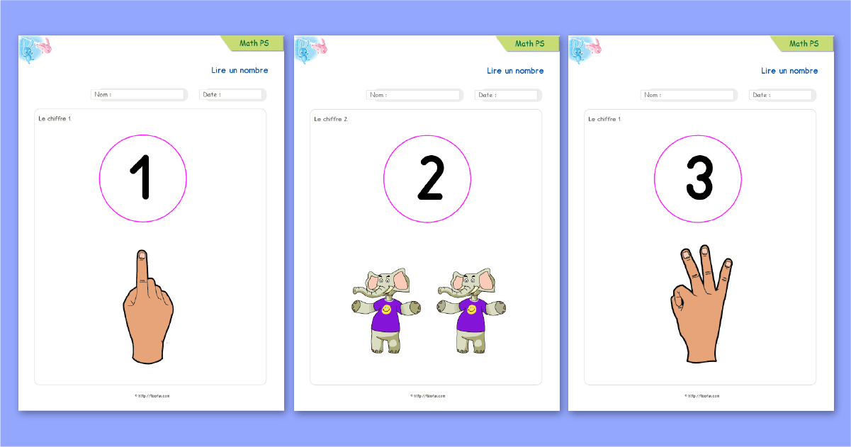 Maths Petite Section - Apprendre Les Nombres De 1 À 3 tout Fiche Pour Petite Section