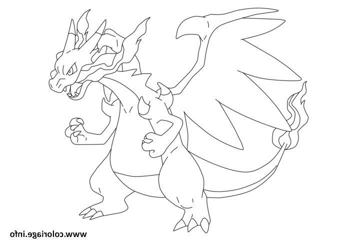 Mega Dracaufeu Ex Pokemon Coloriage Dessin #Dessinpokemon à Pokemon Ex Coloriage