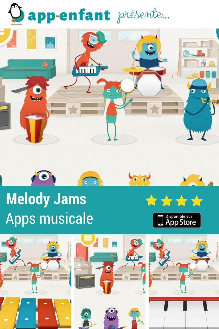 Melody Jam Une Belle Application Musicale | Musique Enfant intérieur Application Educative Maternelle Gratuite