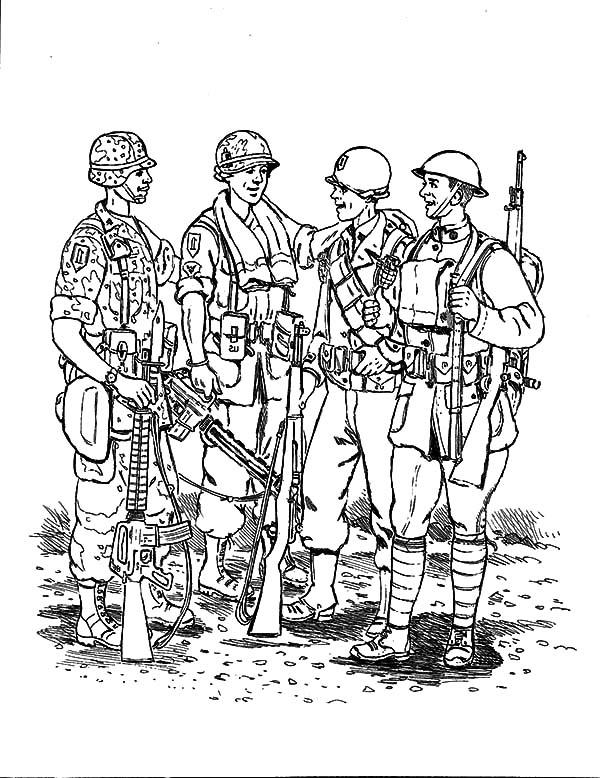 Military Nation Coloring Pages   Color Luna pour Dessin D Arme De Guerre