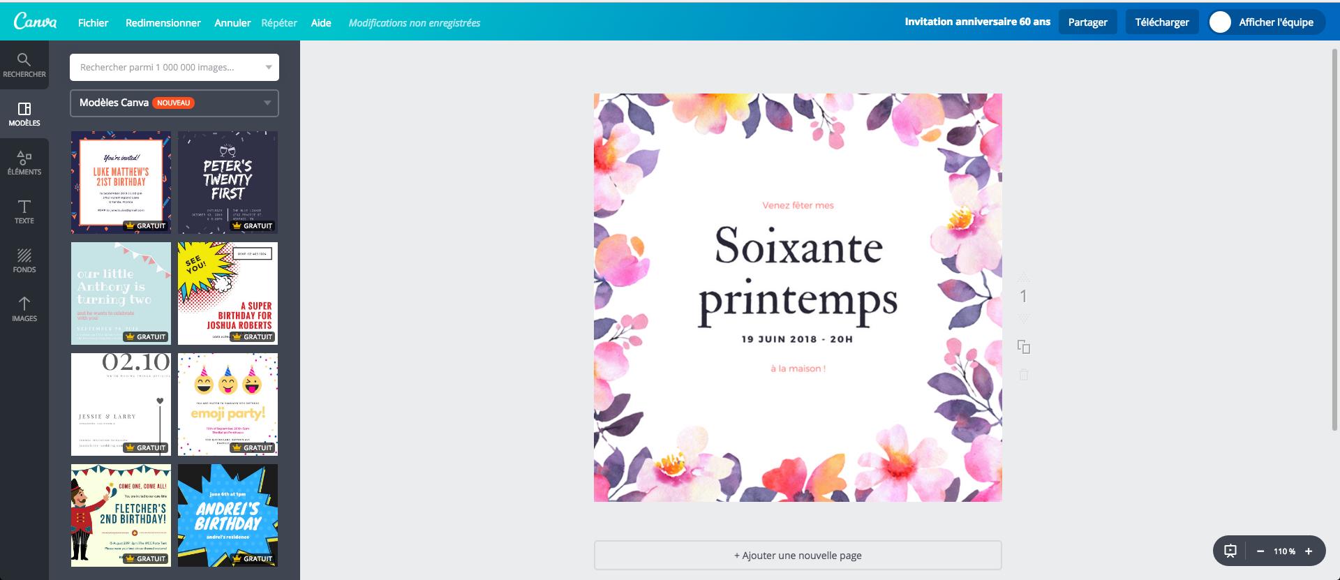 Modèle Carte Invitation Anniversaire 60 Ans Gratuite avec Texte Pour Invitation Anniversaire 60 Ans Et Retraite