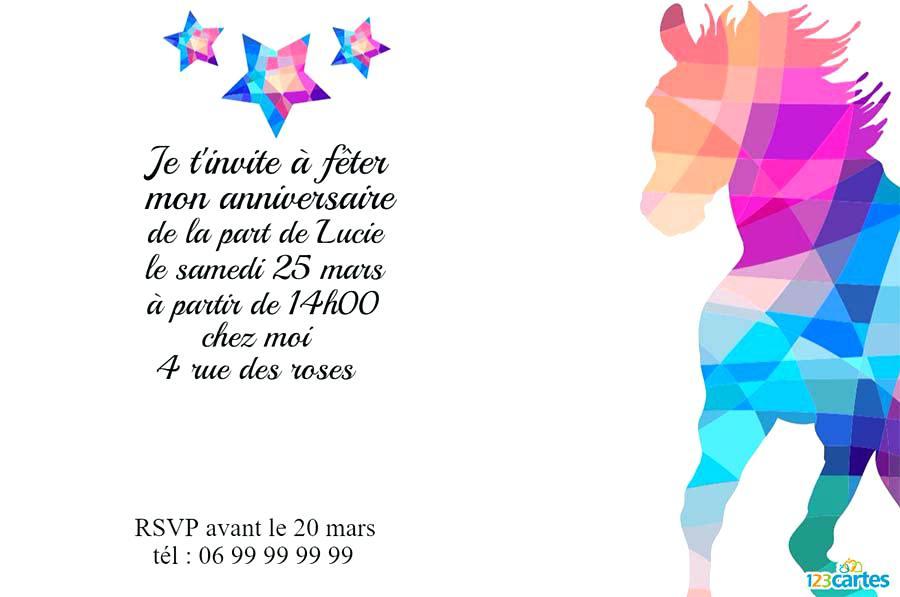 Modele De Texte D'Invitation Pour Anniversaire 10 Ans pour Texte Pour Invitation Anniversaire 3 Ans
