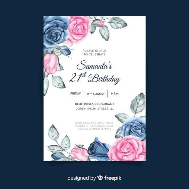Modèle D'Invitation Anniversaire Avec Thème Floral pour Invitation Anniversaire Theme Bonbon