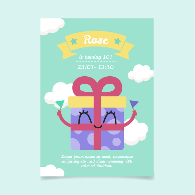Modèle D'Invitation De Carte D'Anniversaire Pour Enfants dedans Modele Carte D Invitation Anniversaire Enfant