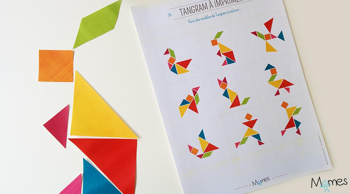 Modèles De Tangram À Imprimer   Momes intérieur Modèle Tangram À Imprimer