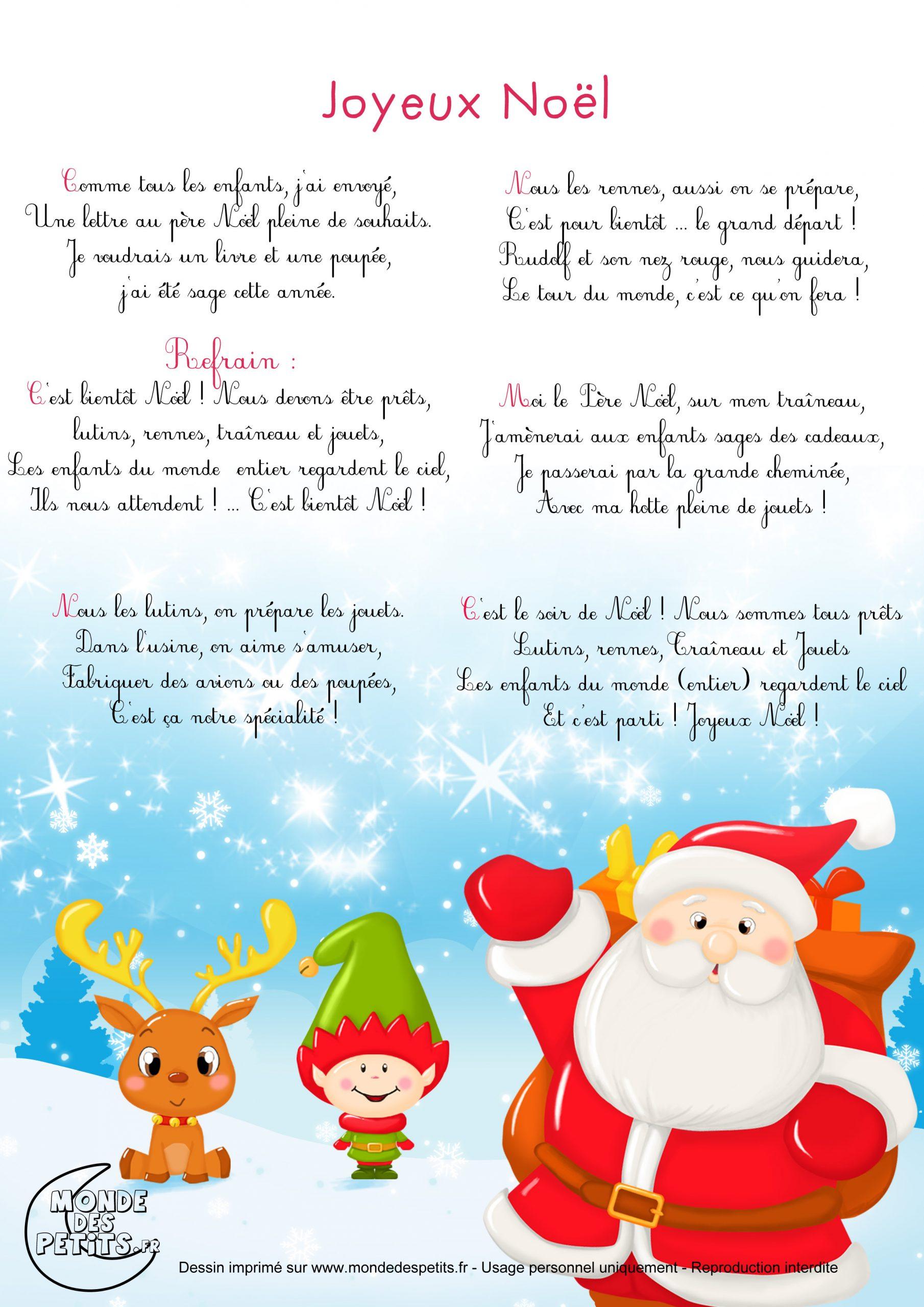 Monde Des Petits - Chanson De Noël : Joyeux Noël tout Comptine De Noel Maternelle