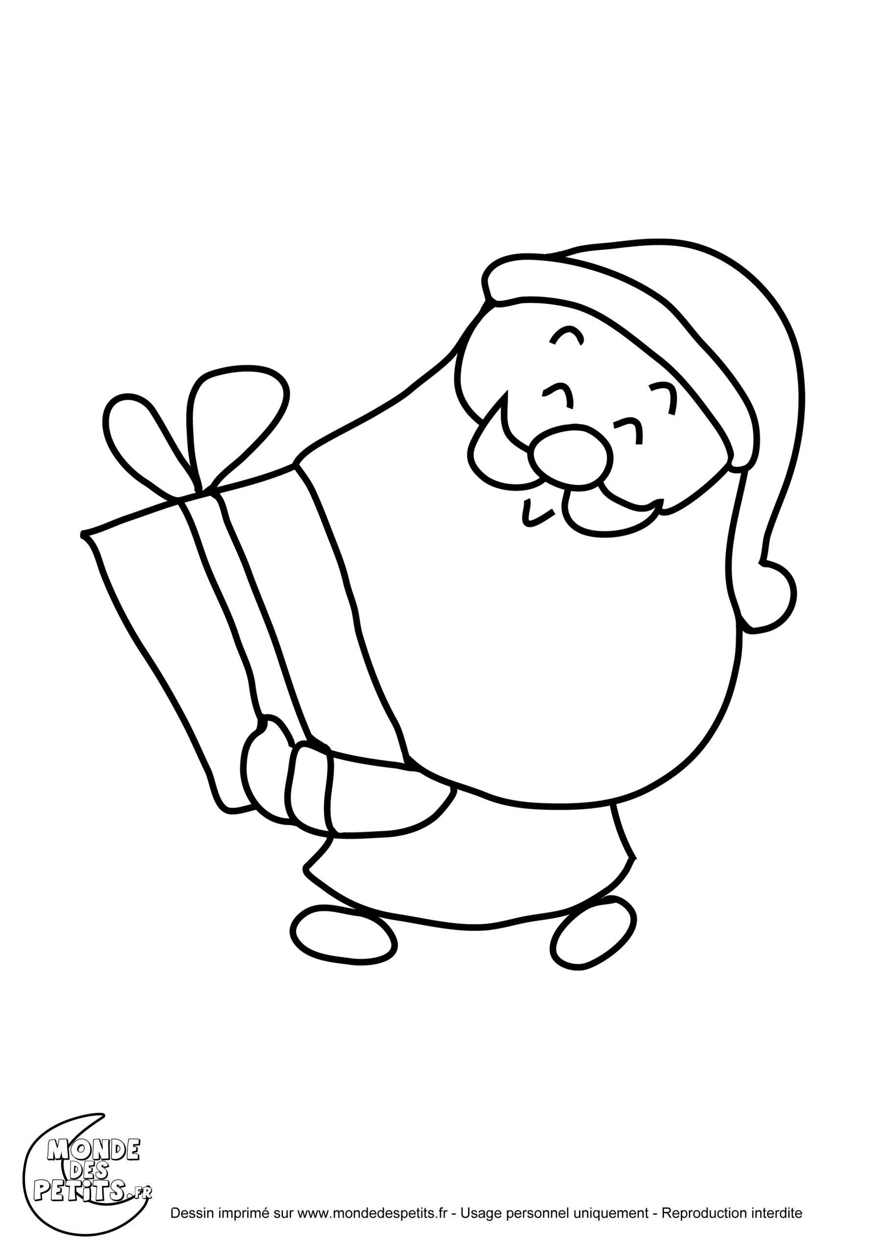 Monde Des Petits - Coloriages À Imprimer concernant Coloriage De Pere Noel A Imprimer Gratuitement