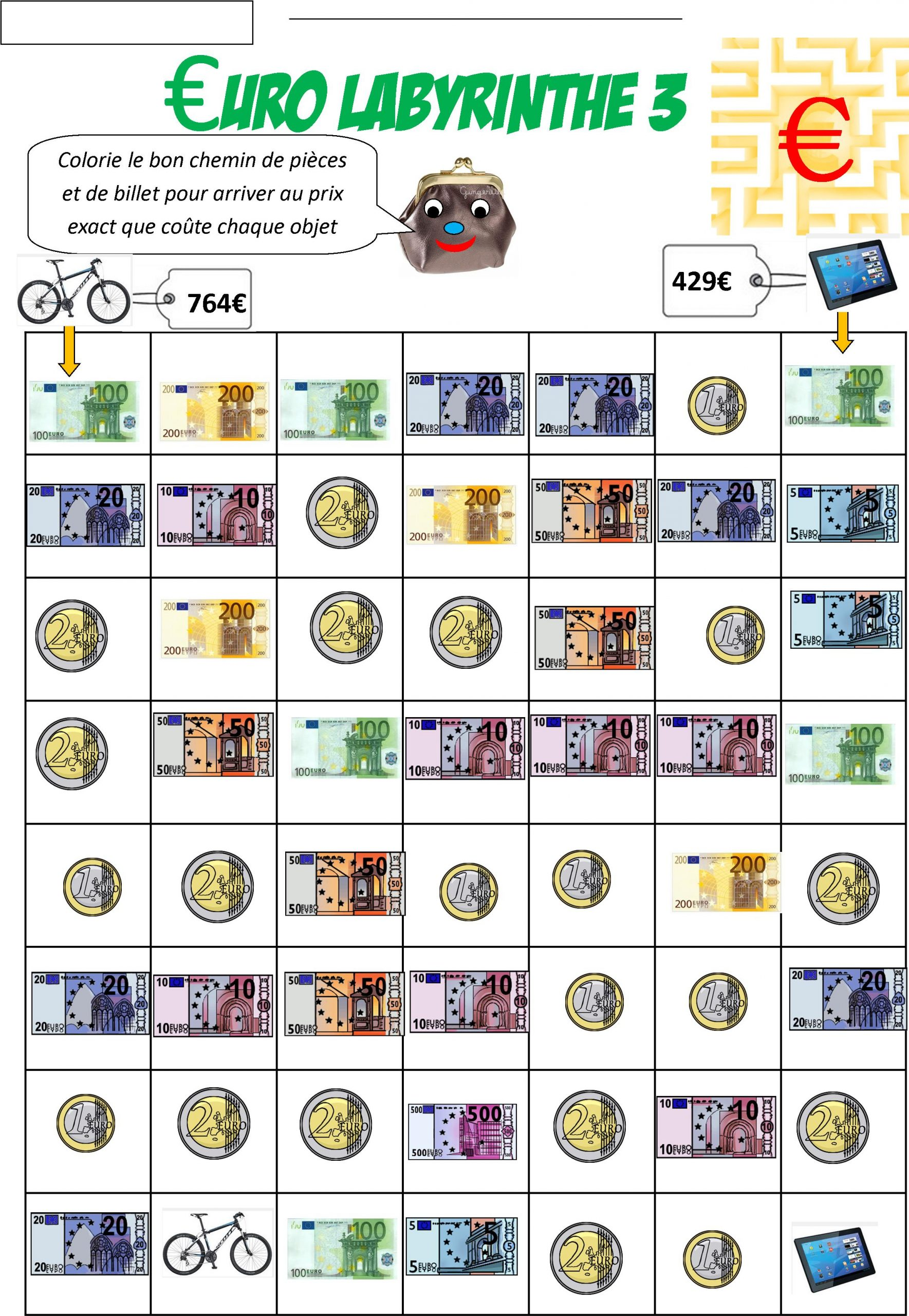 Monnaie Euro - Monsieur Mathieu destiné Pièces Euros À Imprimer